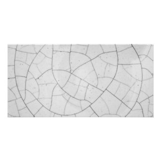 Crackled abstract personalised photo card