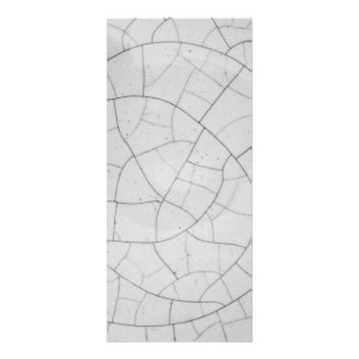 Crackled abstract rack card design