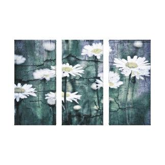 Crackled Daisies Canvas Print