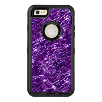 Crackled Glass Birthstone February Purple Amethyst OtterBox Defender iPhone Case