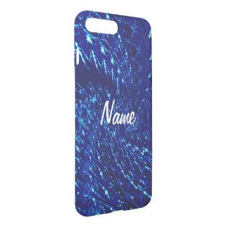 Crackled Glass Swirl Design - Blue Sapphire iPhone 8 Plus/7 Plus Case