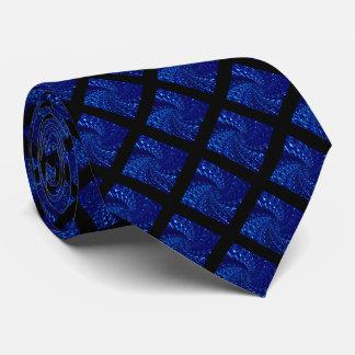 Crackled Glass Swirl Design - Blue Sapphire Tie