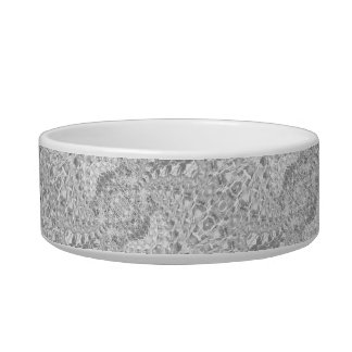 Crackled Glass Swirl Design - Diamond Bowl