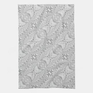 Crackled Glass Swirl Design - Diamond Tea Towel