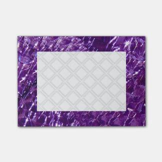Crackled Glass Swirl Design - Purple Amethyst Post-it Notes