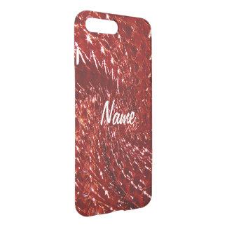 Crackled Glass Swirl Design - Red Garnet iPhone 7 Plus Case