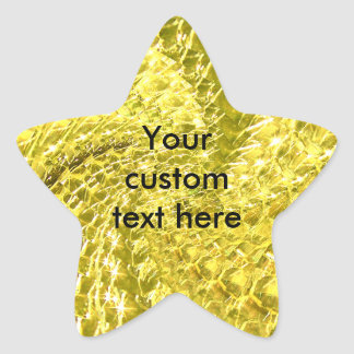 Crackled Glass Swirl Design - Yellow Citrine Star Sticker