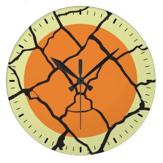 Cracks Large Clock