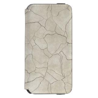 Cracks on Beige Textured Background Incipio Watson™ iPhone 6 Wallet Case