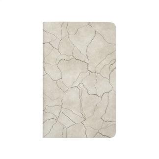 Cracks on Beige Textured Background Journal