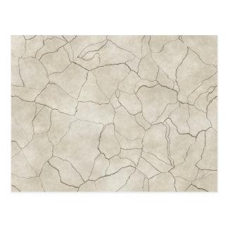 Cracks on Beige Textured Background Postcard