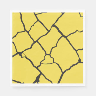 Cracks  Preto Disposable Napkins
