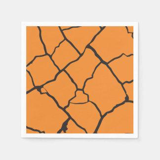 Cracks  Preto Paper Serviettes