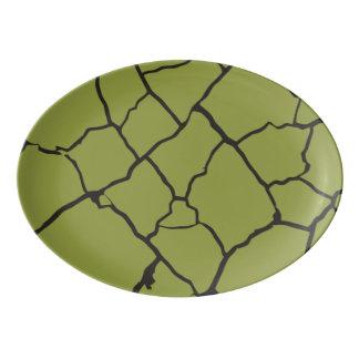 Cracks  Preto Porcelain Serving Platter