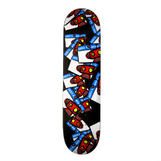 Cradllivant Skate Deck: Sticker Tag 21.6 Cm Old School Skateboard Deck