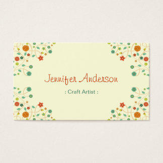 Craft Artist - Chic Nature Stylish Business Card