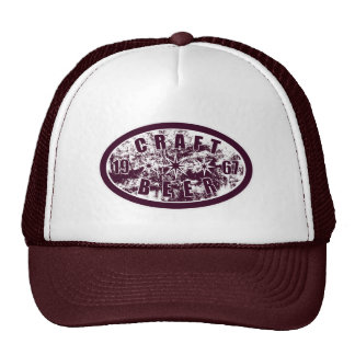 Craft Beer 1967 - Burgundy & White 2 Cap