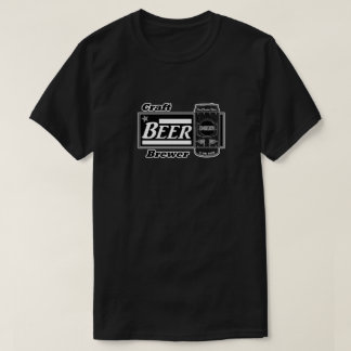 Craft Beer Brewer - Black & White Can T-Shirt
