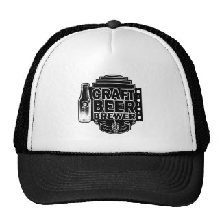 Craft Beer Brewer - Black & White Logo Cap