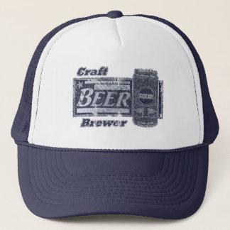 Craft Beer Brewer - Blue & White Can Worn Look Cap