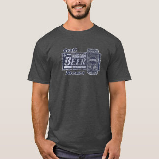 Craft Beer Brewer - Blue & White Can Worn Look T-Shirt