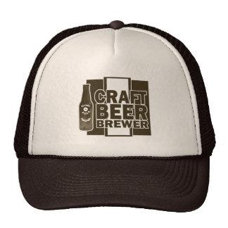 Craft Beer Brewer - Brown & White Logo Cap