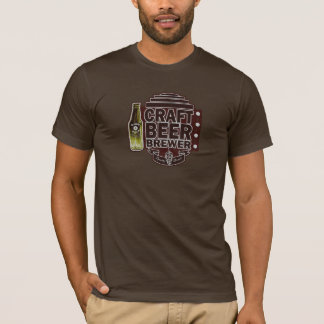 Craft Beer Brewer-Brown Wood Grain Look T-Shirt