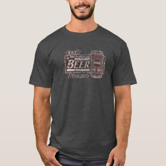 Craft Beer Brewer - Burgundy & White Can Worn Look T-Shirt