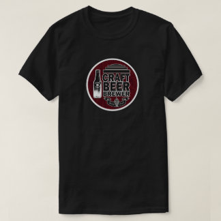 Craft Beer Brewer Wood Grain Look T-Shirt