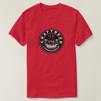 Craft Beer Connoisseur Black & White T-Shirt