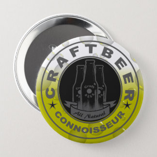 Craft Beer Connoisseur Bubble Yellow 10 Cm Round Badge