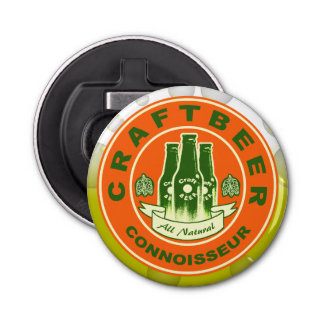 Craft Beer Connoisseur -Orange Green Bottle Opener