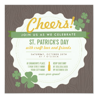 Craft Beer St. Patrick's Day Invite