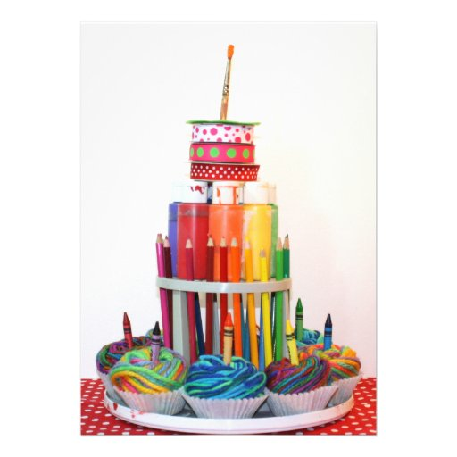 craft_cake_birthday_party_invitation r62d19066b43d47809821b57032fb1b10_imtzy_8byvr_512 unique birthday cakes pictures 10 on unique birthday cakes pictures
