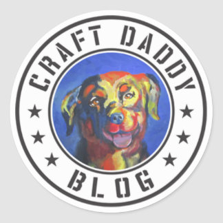 Craft Daddy Blog Logo Stickers
