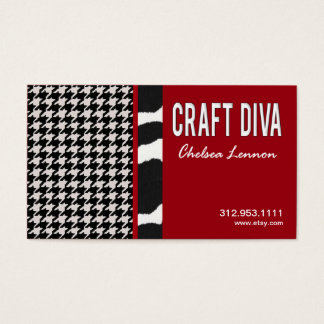 Craft Diva Artist Handicrafts Knitting Quilting Business Card