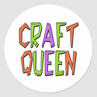 Craft Queen Round Sticker
