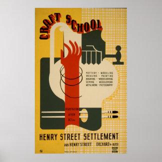Craft School Henry Street Settlement 1939 WPA Poster