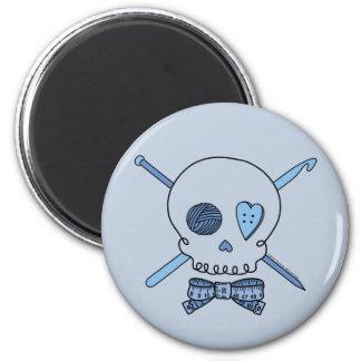 Craft Skull (Blue Background) Magnet