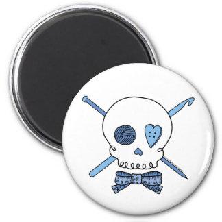 Craft Skull (Blue) Refrigerator Magnet