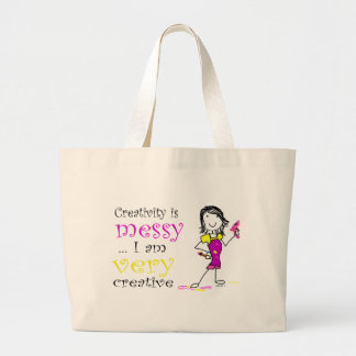 Craft Tote Bag -Creativity is Messy