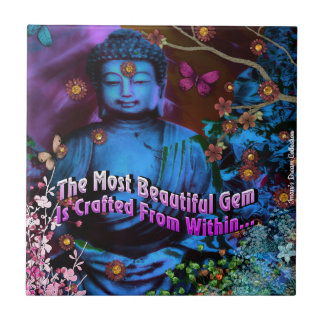 Crafted Within Buddha Ceramic Tile