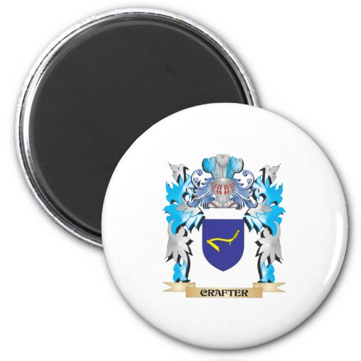 Crafter Coat of Arms - Family Crest Magnet