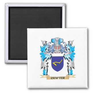 Crafter Coat of Arms - Family Crest Fridge Magnets