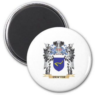Crafter Coat of Arms - Family Crest 6 Cm Round Magnet
