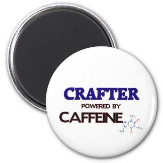 Crafter Powered by caffeine 6 Cm Round Magnet
