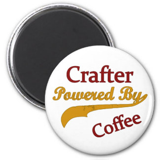Crafter Powered By Coffee 6 Cm Round Magnet