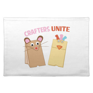 Crafters Unite Cloth Place Mat