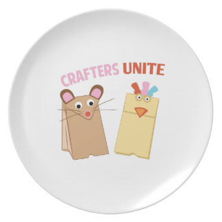 Crafters Unite Dinner Plates