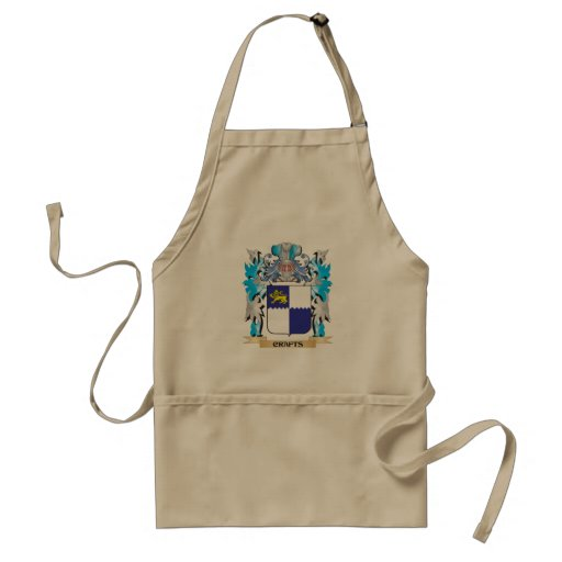 Crafts Coat of Arms - Family Crest Aprons